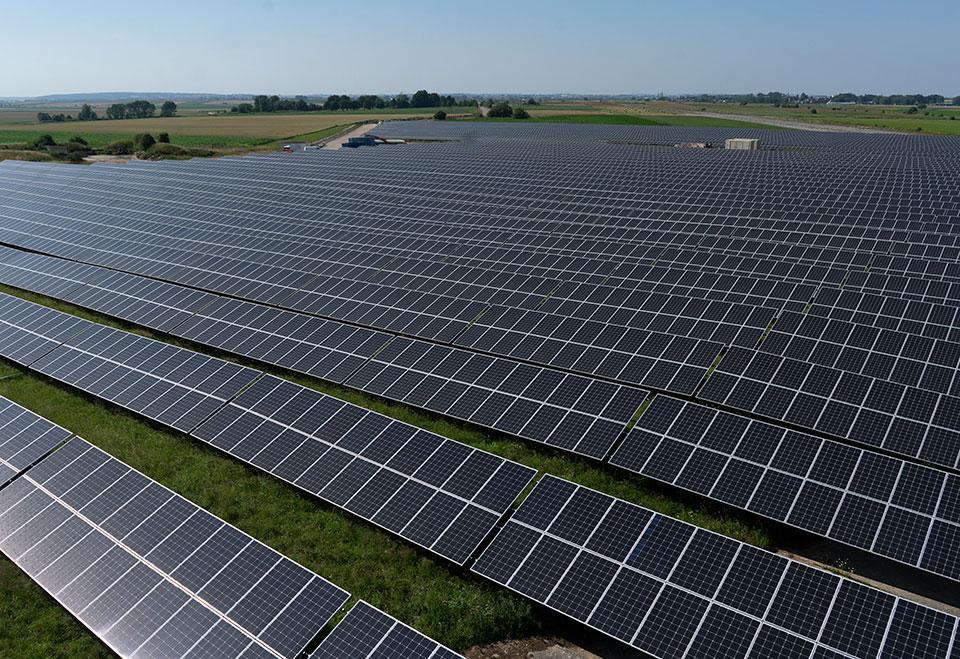 photo centrale photovoltaïque de Cambrai-Niergnies, partenaire Volterres