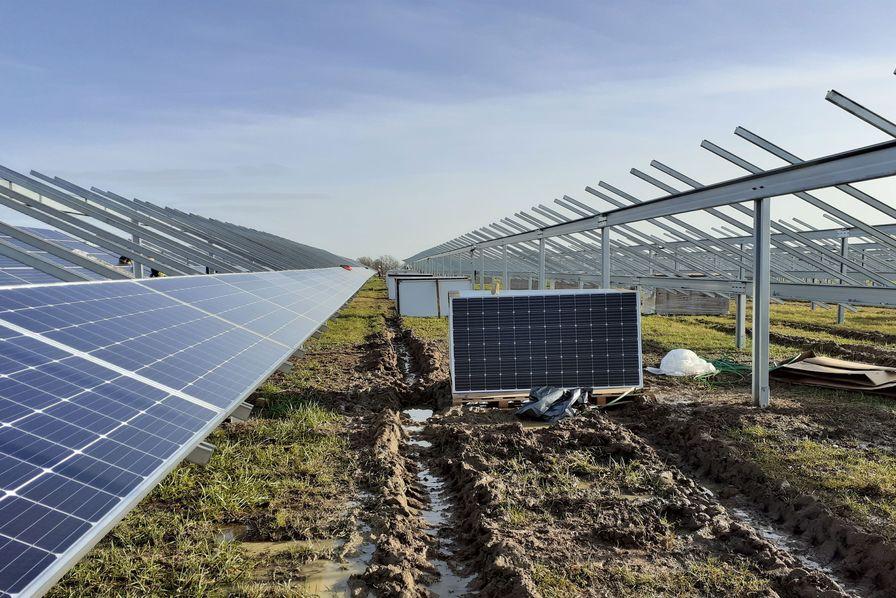Photo de la centrale photovoltaïque de Ker Lepaud